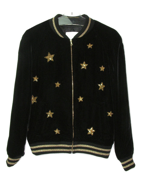 STAR EMBROIDERED VELVET JACKET