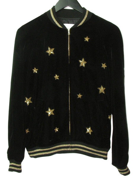 MEN'S STAR EMBROIDERED VELVET JACKET