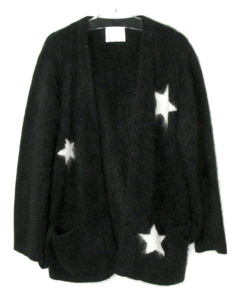 STAR ANGORA KNIT WRAP JACKET