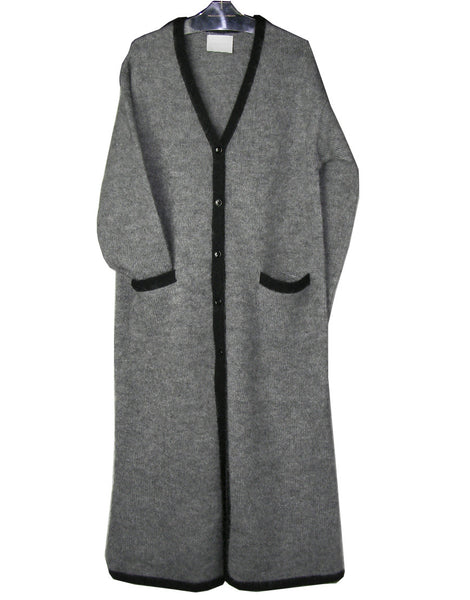 KID MOHAIR MIX MAXI CARDIGAN