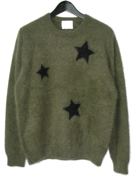 MEN'S STAR ANGORA SWEATER