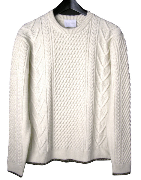 MEN'S METALLIC TRIM FISHERMAN SWEATER