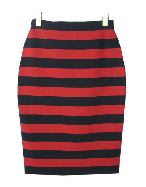 STRIPED RAYON NYLON KNIT SKIRT