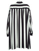 STRIPE PRINTED CREPE DE CHINE SHIRT DRESS