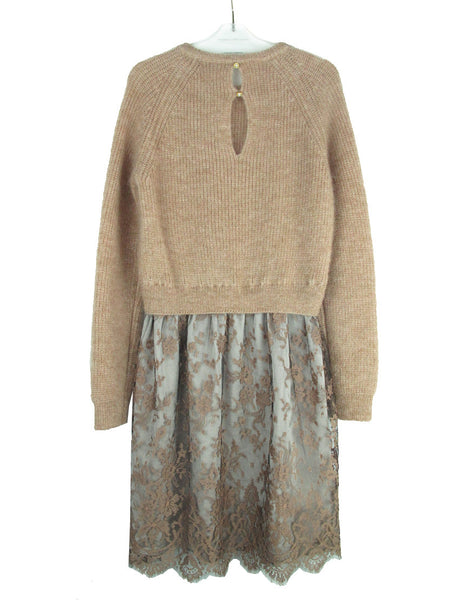 MOHAIR SWEATER AND LACE DRESS