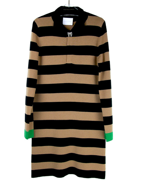 STRIPED RUGBY KNIT DRESS