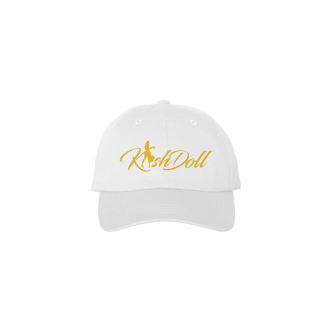 WHITE KASH DOLL LOGO HAT