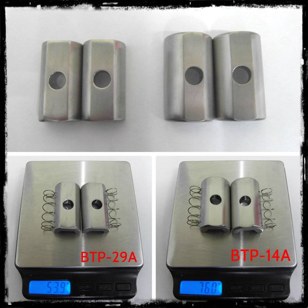 Ti Parts T2 Ti Hinge Clamp Plate
