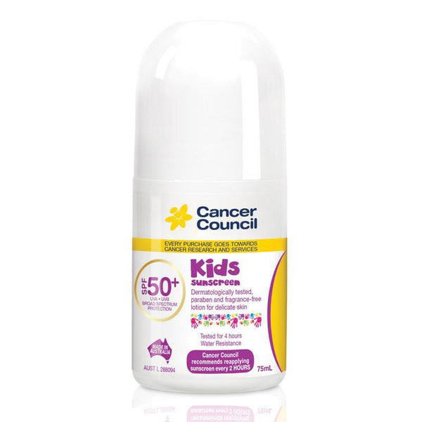 Cancer Council SPF 50+ Kids 75ml Roll On