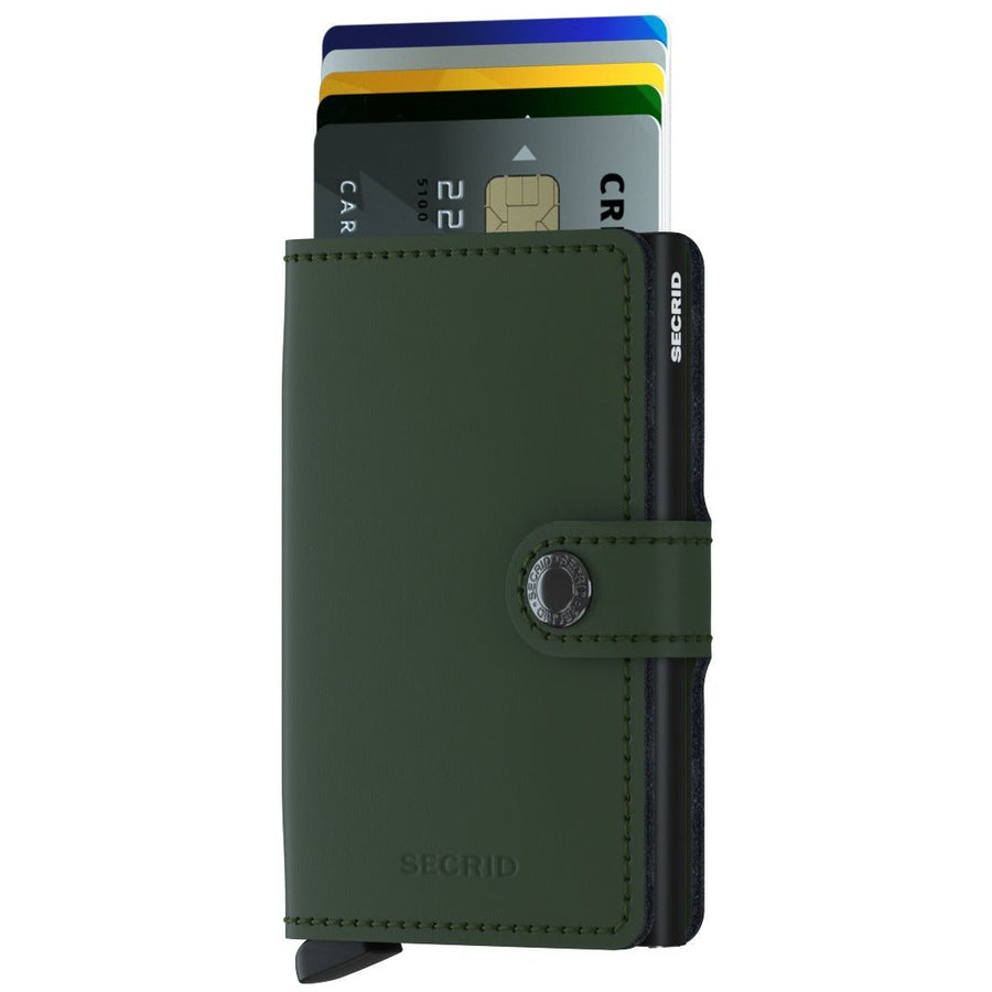 Secrid Miniwallet, Matte Green & Black