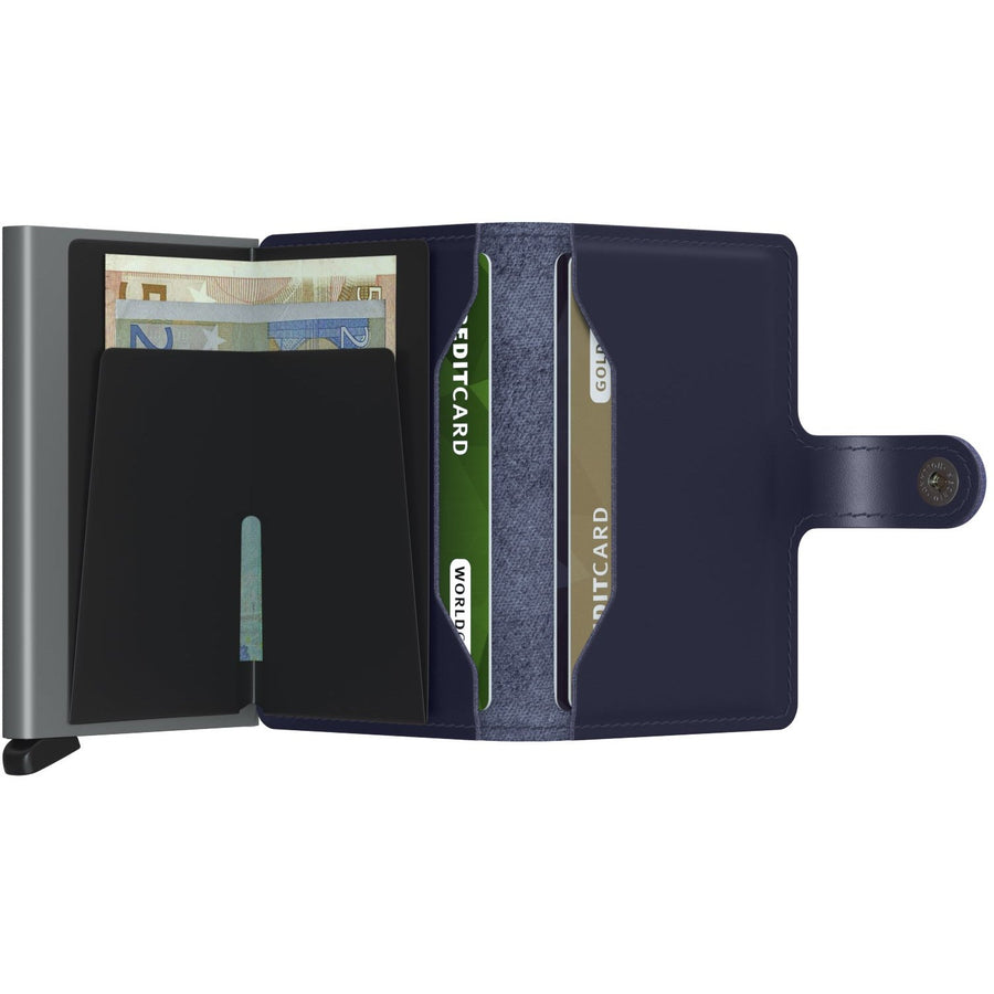 Secrid Miniwallet Metallic, Blue