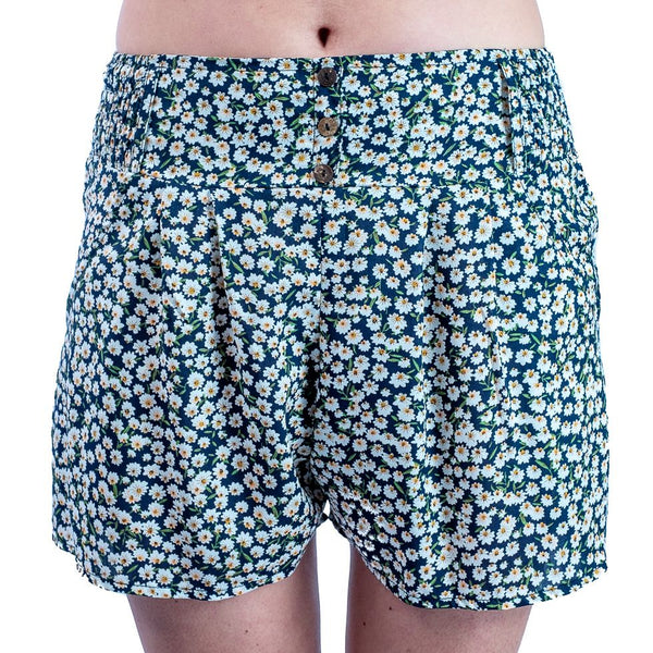 Featherweight Comfort wear Viscose (Rayon ) Fabric Summer Shorts with Coconut Buttons - Ethnic-Tara