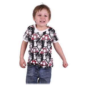 100 % Pure soft Cotton T Shirt. Child Magic Mushroom Chimp Summer Tees - Ethnic-Tara