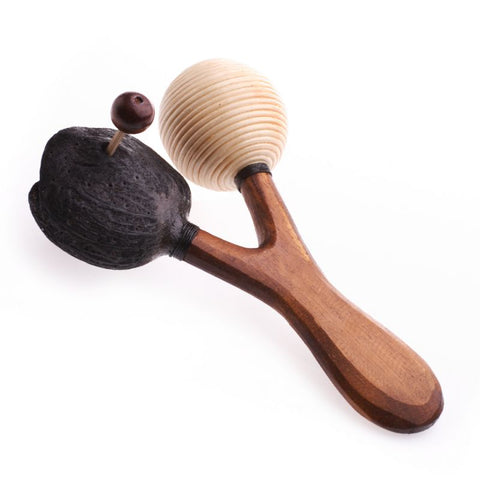 Seeds Rumba. Aboriginal Maracas Travel Percussion Musical Instrument. Hand Carved. Fair Trade - Ethnic-Tara