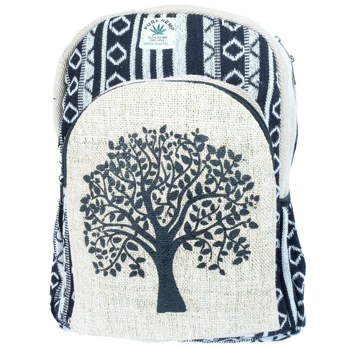 Tree of Life, Hemp Handmade Nepalese Backpack. Fair Trade. Hand Made, Handicraft Bohemian Festival - Ethnic-Tara
