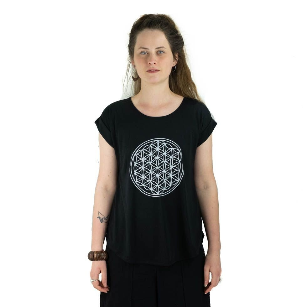 Mandala Spiritual Girl Half Sleeves T Shirt. Yogi T-shirt. Soft Women. Comfortable T shirt Exercise - Ethnic-Tara