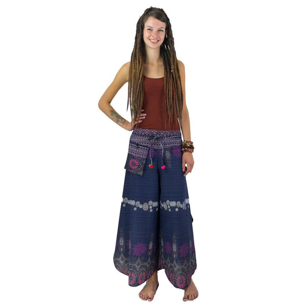 100% Thick Cotton Pants Loose Fittings Pants for all Seasons. Hippie Boho Trousers. - Ethnic-Tara