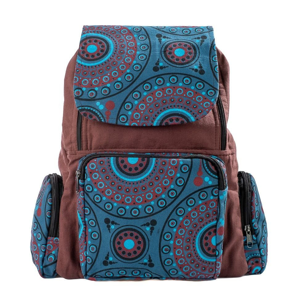 Earth Cloud Festival shots Cotton Mandala Handmade Bag. Nepalese Backpack Festival, Bohemian, Ethno - Ethnic-Tara