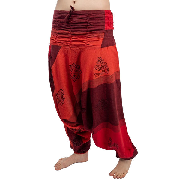 100% Cotton Aladdin Hippie Pants. Loose Fittings Trousers. Boho Harem Festival Trousers - Ethnic-Tara