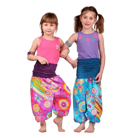 100% Cotton Children Pants. Child Festival Trousers. Loose Fittings for Hippie Trousers - Ethnic-Tara