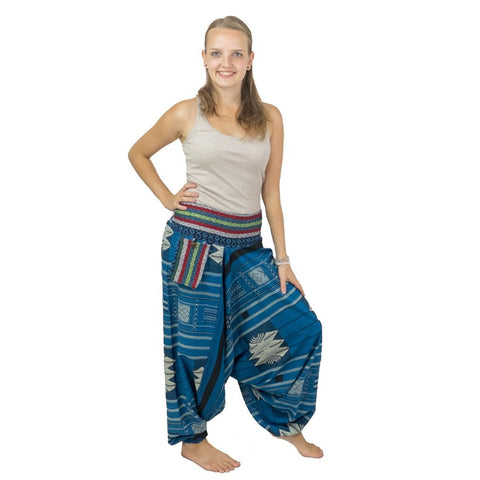Thick Cotton Aladdin Pants. Loose Fittings Harem Pants.Hippie Trousers. Boho 100% Cotton. Alibaba - Ethnic-Tara
