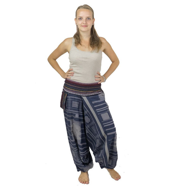 Thick Cotton Pants. Aladdin. Loose Fittings. Hippie Trousers. Boho 100% Cotton Harem Pants. Alibaba - Ethnic-Tara