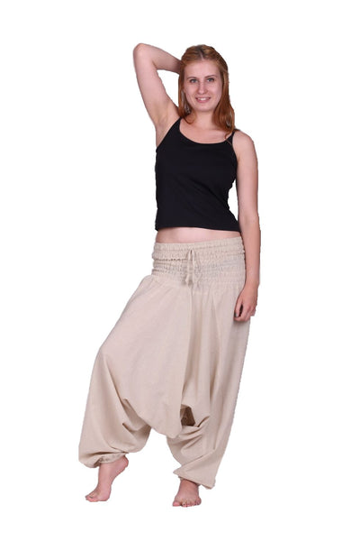Summer Cotton Aladdin Pants. Loose Fittings Harem Pants.Hippie Trousers. Boho 100% Cotton. Alibaba - Ethnic-Tara