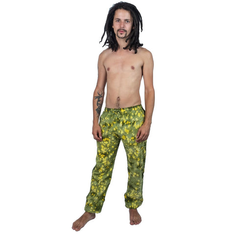 100% Cotton Bleaching Tie-Dye Unisex Pants. Loose Fittings Hippie Boho Psychedelic Festival Trousers - Ethnic-Tara