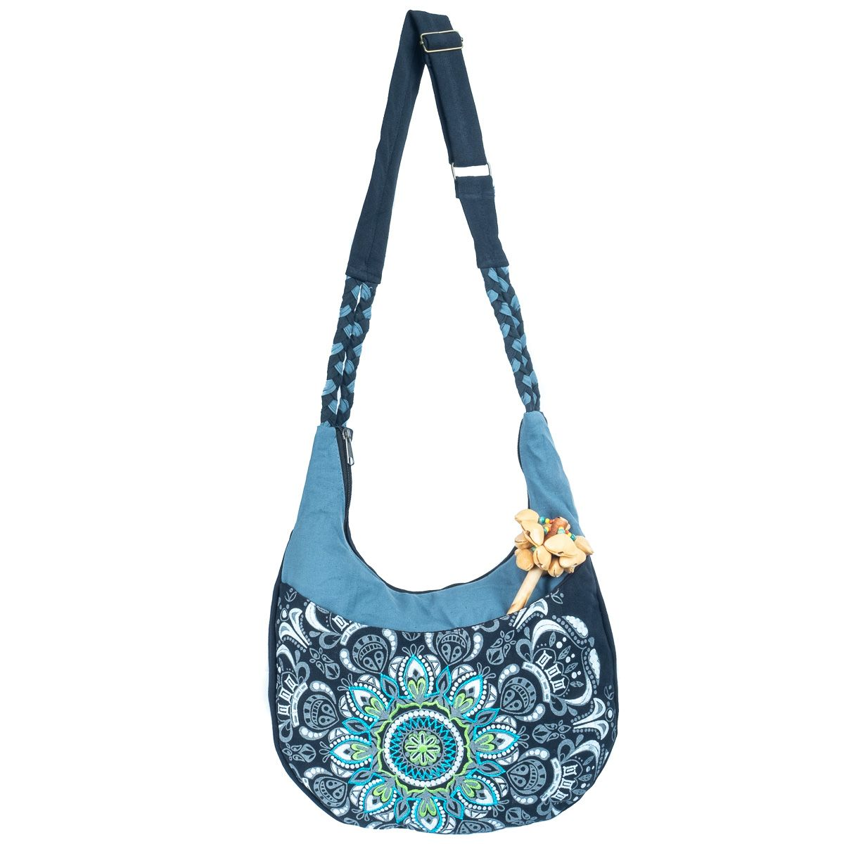 Strings Mandala Flower 100% Cotton Handmade Nepal, Boho Ethno Festival Bag - Ethnic-Tara