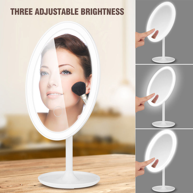 Makeup LED Lighted Vanity Mirror Touch Sensor Switch Dimmable LED Mirror