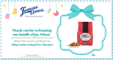 Famous Amos Baby's Full Month Voucher