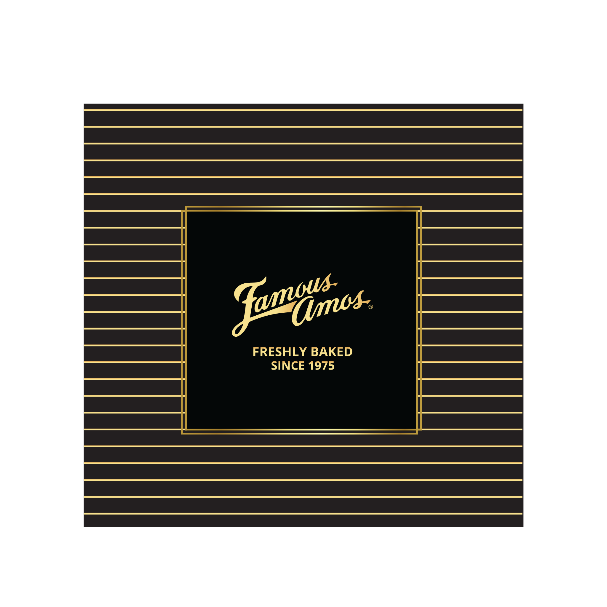Black & Gold Square Box