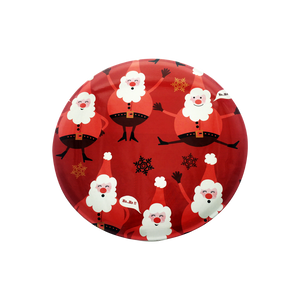 Red Santa Claus Round Tin