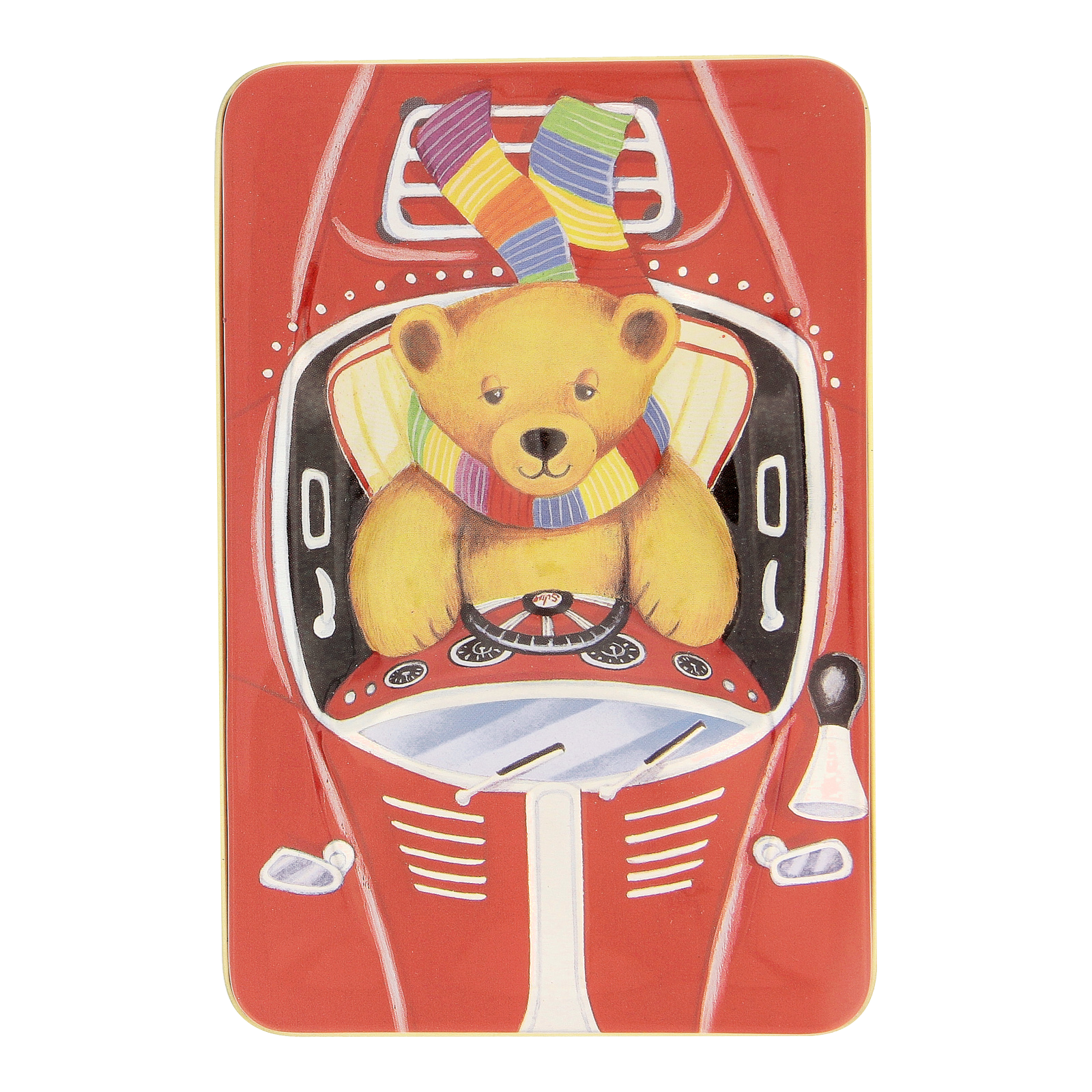 Teddy in Car Gift Tin