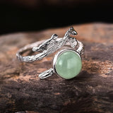 Sterling Silver Natural Aquamarine Stone Handmade Vintage Rings - Creative Dreamscape