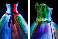 Romantic Customized Night Glow In Dark Luminous Wedding Dress Turkey Annual Dinner 7 Variable Color Model Fashion Runway show - Creative Dreamscape