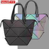 MAGICYZ Women Handbag Luminous Geometric Fold Over bag Luxury Brand Women Handbag Designer Diamond Lattice Woman Shoudler Bags - Creative Dreamscape