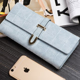 Wallets Women Long Zipper Luxury Brand Leather Coin Purses Tassel Design Clutch lattice Female Money Bag Credit Card Holder 440 - Creative Dreamscape