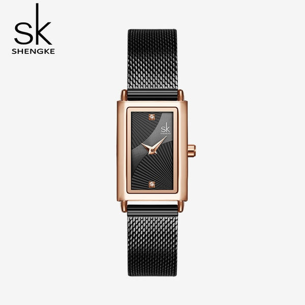Shengke Women Watches Fashion Geneva Designer Ladies Watch Luxury Brand Rectangle Quartz Gold Wrist Watch Luxury Gifts For Women - Creative Dreamscape