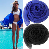 Meihuida Women Sexy Scarf Chiffon Wrap Dress Sarong Pareo Beach Bikini Swimwear Dress Black 2019 Newest - Creative Dreamscape