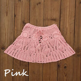 8 Color Hand Crochet Florens Skirt Women Sexy Beach cover up Skirt Boho Style elastic waistband - Creative Dreamscape