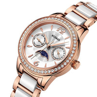 RUIMAS Women Fashion Top Brand Luxury Moon Phase Watches Ladies Quartz Wristwatch diamond Watch Female Casual Clock Montre Femme - Creative Dreamscape