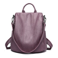 Women Waterproof anti-theft Leather Backpacks Bags For Girls Female Shoulder Bag Multifunction Traveling Backpack Mochilas - Creative Dreamscape