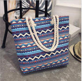 Fashion Folding Women Big Size Handbag Tote Ladies Casual Flower Printing Canvas Graffiti Shoulder Bag Beach Bolsa Feminina - Creative Dreamscape