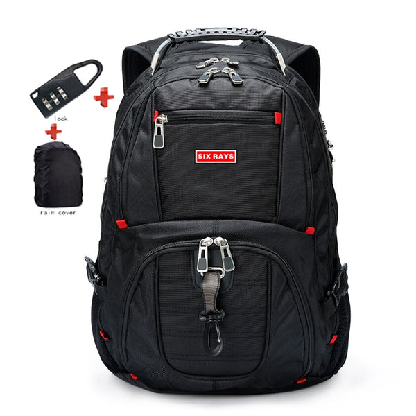 "Brand Swiss Laptop 15.6"" Backpack External USB Charge Swiss Computer Backpacks Anti-theft Backpack Waterproof Bags for Men Women - Creative Dreamscape"