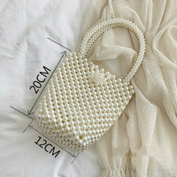 Handmade Luxury Pearl Beaded Purse - Creative Dreamscape