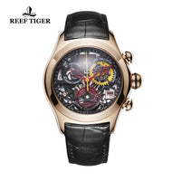 2019 Reef Tiger/RT Luxury Rose Gold Sport Watches Women Fashion Watches Swiss Ronda Movement Skeleton Watches Date RGA7181 - Creative Dreamscape
