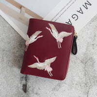 wallets Women Brand Famous Mini embroidery Wallets Purses Leather Small Luxury Female Short Coin Zipper Purse Credit Card 140 - Creative Dreamscape