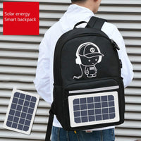 New Oxford Cloth Smart Backpack Fashion Unisex Reflective Strip Backpack Creative Solar Energy Charging Multifunctional Backpack - Creative Dreamscape