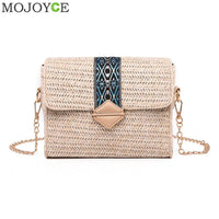 2019 New Square Straw Bags Women Summer Rattan Bag lady Handmade Woven Beach Cross Body Bag Bohemia Handbag Bali travel vocation - Creative Dreamscape